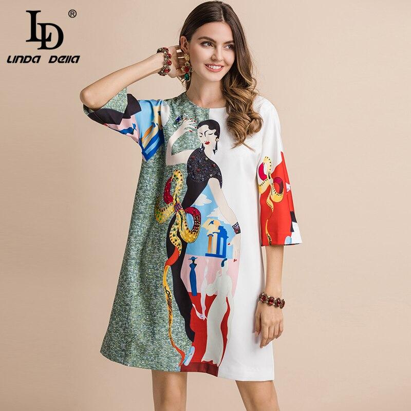 impresso vestido LD mini