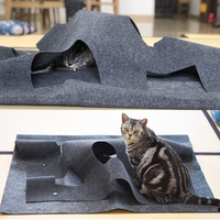 Cat Playing Mat Holes Toy Kittens Squirrel Rabbit Interactive Tunnel Biting Ground Mat New Design Fun Cats Toy Pet Accessaries