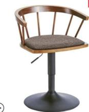 Solid wood bar chair high stool swivel bar chair stylish simple Windsor chair home lift chair. цена