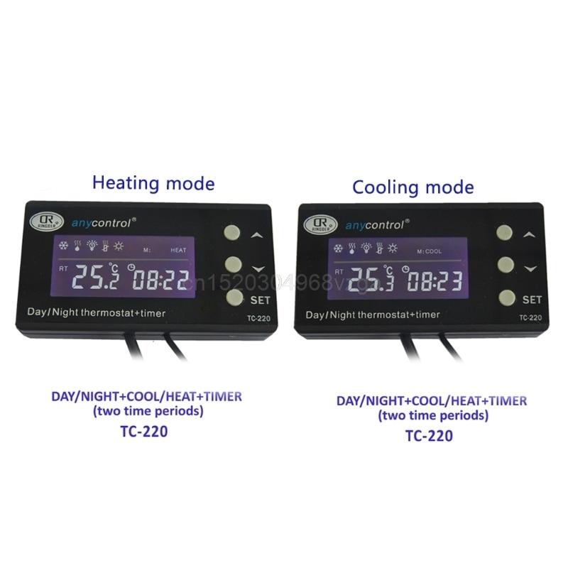 LCD Reptile Digital Repile Thermostat Temperature Control Heat Cool US EU Plug Apr Drop ship цены