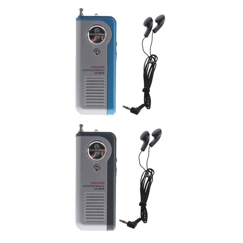 Systematisch Mini Tragbare Auto Scan Fm Radio Receiver Clip Mit Taschenlampe Kopfhörer Dk-8809 Geschickte Herstellung Tragbares Audio & Video