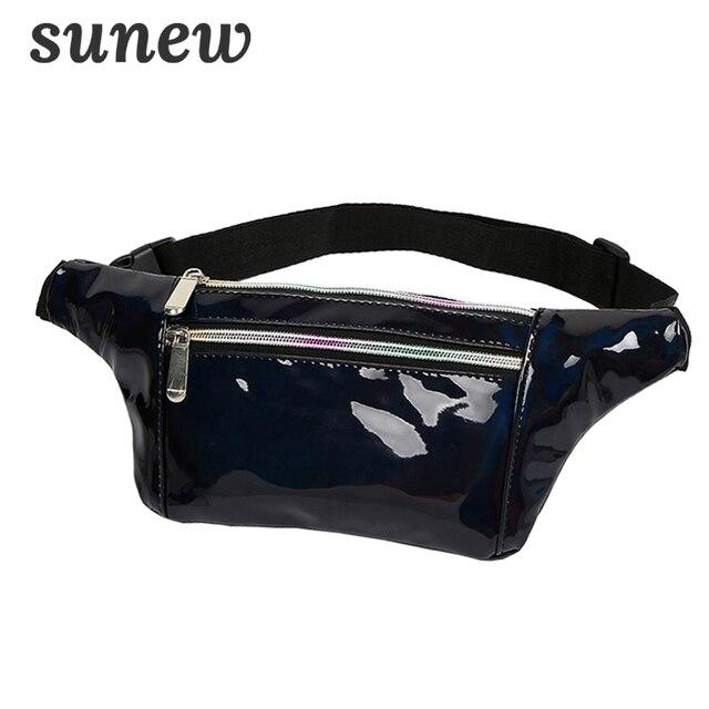 Holographic Fanny Pack Hologram Waist Bags Bum Waist Belt Bag Bumbag Waistbag Borsa Marsupio Donna Leather Waist Pouch Belt K045