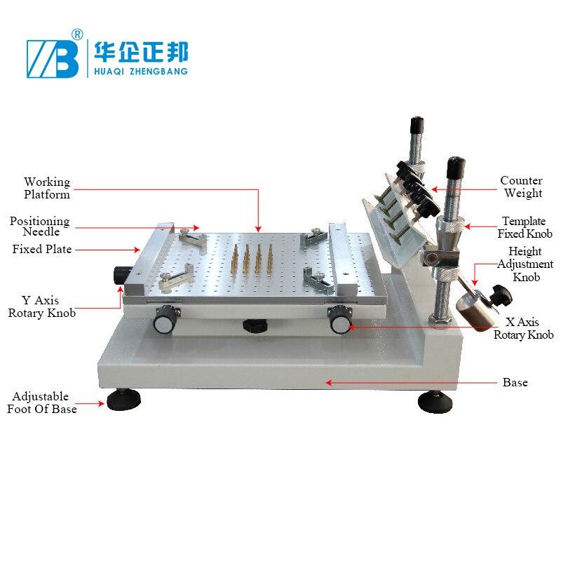 Aletler'ten Lehimleme İstasyonları'de Yüksek hassasiyetli PCB şablon yazıcı serigraf baskı makinası SMD lehim pastası yazıcı alüminyum platform SMT macun yazıcı title=