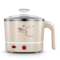 New Fashion Electric Cooker Multifunction Soup Cooking Pot Stainless Steel Mini Hot Pot Household Practical Kitchen Pot