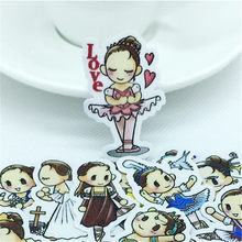 40 Pcs Dancing girl mini Stickers kawaii Decal For Phone Car Laptop Bicycle Notebook Backpack Kids Toy stickers scrapbooking(China)