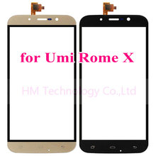 5.5″Black/Gold TP for UMI Rome X Touch Screen Digitizer Glass Panel Sensor No LCD Smartphone Replacement Free Shipping+Tools