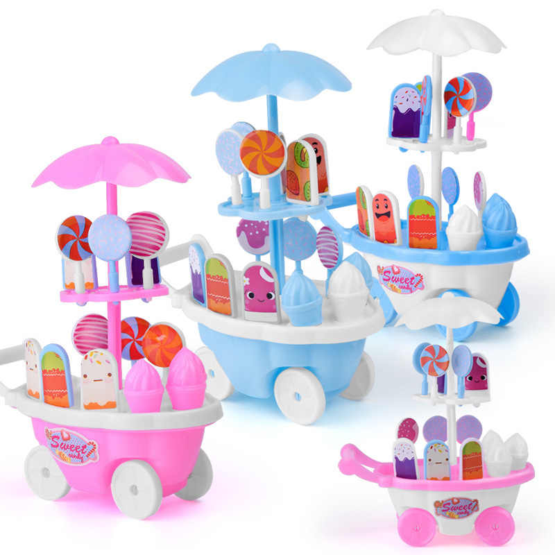 1 Set Children Kids Girl Toy Trolley Role Play Mini Simulation Birthday Gift Fun Game YH-17