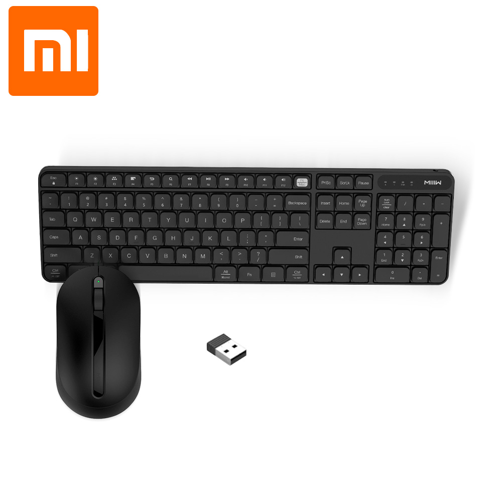 Xiaomi Keyboard-Set Laptop-Mouse-Keyboard Office-Mouse Miiiw Wireless Computer 1000dpi