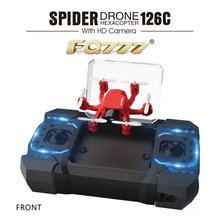 FQ777-126C FQ777 126C MINI Drone w/ 2MP HD Camera RC Quadcopter MODE1/2 Switch Headless 3D-flip One-key Return RC Hexacopter