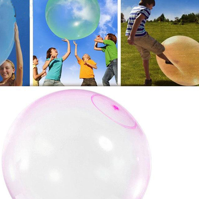 Funny Outdoor Play TPR Sugar Color Mouth Blowing Bubble Ball