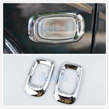 цена на Accessories For Toyota Land Cruiser 100 LC100 J100 Lexus LX470 1998-2003 2004-2007 Side Lamp Cover Chrome Car-Styling