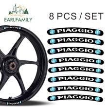 EARLFAMILY 13 см x 1,3 8x для Piaggio наклейки на обод колеса в полоску Комплект автомобиль мотоцикл наклеяка на гоночный автомобиль без каблука клей стикеры
