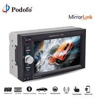 Podofo 2 din 6.2'' car radio autoradio mirror link Bluetooth touch screen screen Multimedia Player Audio Stereo Car MP5 Player
