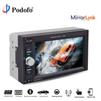 Podofo 2 din 6.2'' car radio autoradio mirror link Bluetooth touch screen screen Multimedia Player Audio Stereo Car MP5 Player