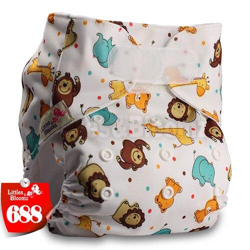 [Littles&Bloomz] Детские Моющиеся Многоразовые, настоящая стандартная ткань, застежка-липучка, карман для подгузников, пеленки, обертывание, подходит для рождения в горшке - Цвет: 688