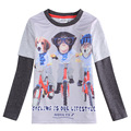 Gris Ropa para niños ropa del mono 3d cabritos de la camiseta visten Todos para niños accesorios de vestir roupas meninos enfant