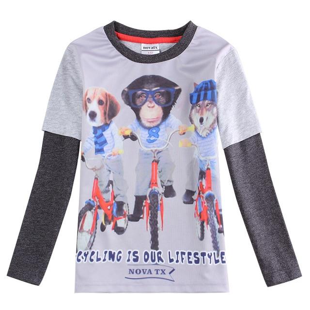 gray Clothing for boys clothes 3d monkey t shirt kids wear All for children clothing accessories roupas infantil meninos enfant