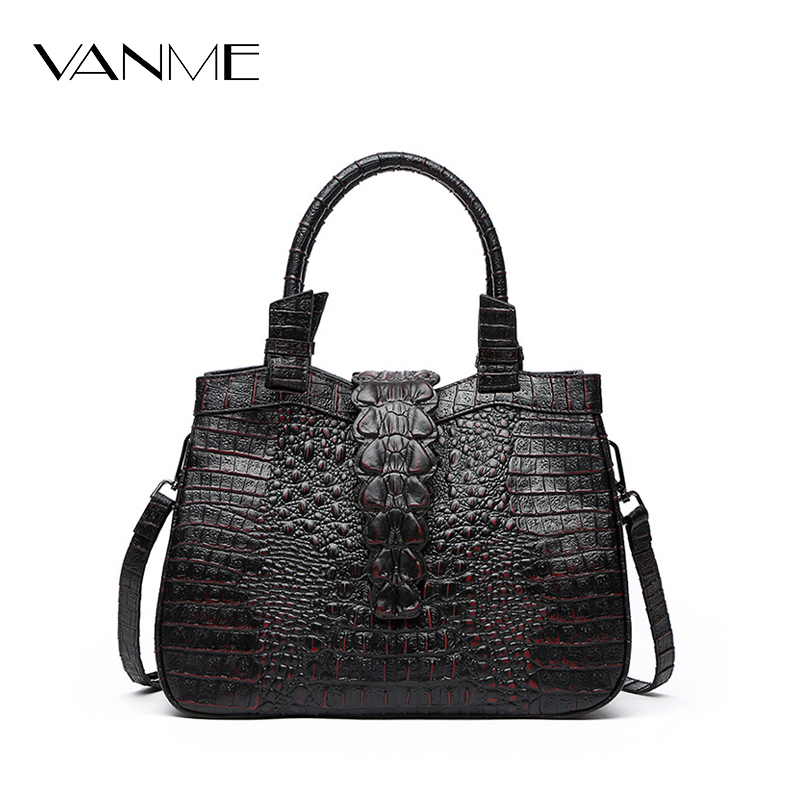 Luxury Crocodile Pattern Handbag High Quality Women Designer Bags Lady Vintage Women's Flap Crossbody Bag Female Bolsas Feminina hot sale 2016 women leather bag women s handbag crocodile pattern crossbody bag for women pendant lady bags tote bolsas qt2020
