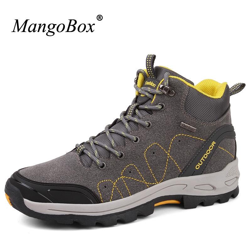 Mangobox Climbing Mountain font b Boots b font Men 2017 Outdoor Shoes For Men High Top