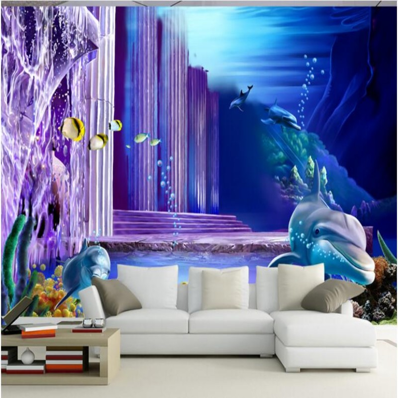 Beibehang Wallpaper 3D Underwater World Fantasy Photo Theme Space Kids Room  TV Bedroom Backdrop Wallpaper Papel De Parede In Wallpapers From Home ...