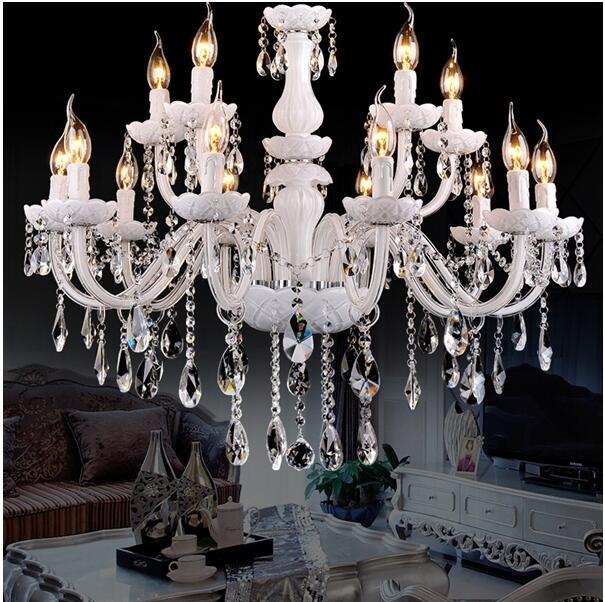 12 Lights Vintage Lamp Luster LED Crystal Chandelier Lighting For Foyer  Inner Decoration Luminaire