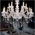 12 lights Vintage lamp Luster LED Crystal chandelier lighting For Foyer inner decoration luminaire