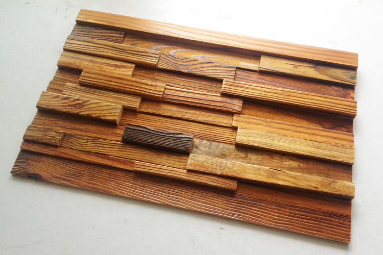 Solid Wood Wall Paneling : Home decorative d solid wood mosaic tile fascia striped
