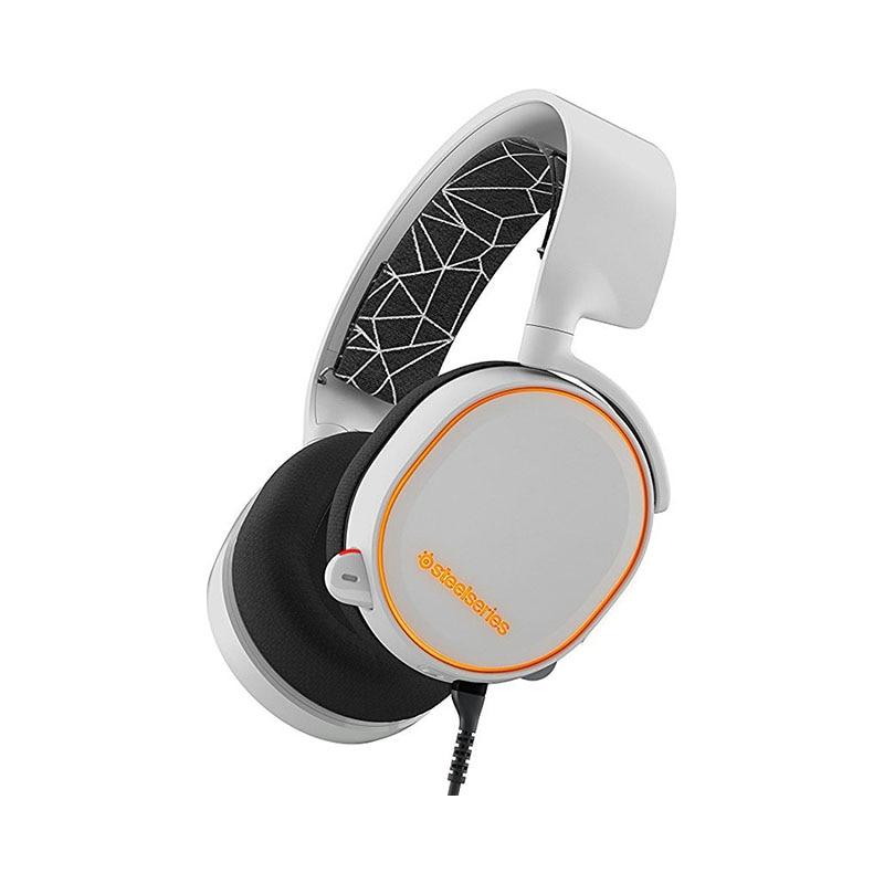 Headphones SteelSeries Arctis 5 White 1more super bass headphones black and red