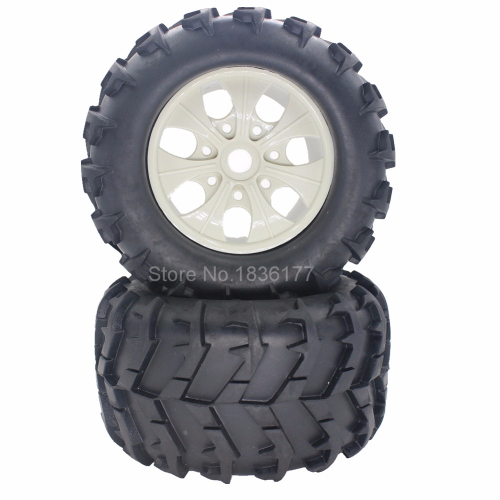 4pcs/lot 150*80*17mm Rubber RC Tires & Wheel Rims with Foam Insert 17mm Hex Hub Mount For 1:8th Monster Truck Tyre HSP TORNADO wholesale 2pcs lot for robot 1 10 rc car rc rubber tires tyre