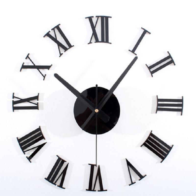 Saat Duvar Saati Akrilik Saat Reloj Duvar Saati Reloj de Pared Modern Tasarım Izle Horloge Murale Wandklok Kendinden yapışkanlı saatler
