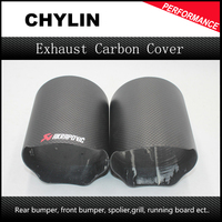 Top Quality 1Pcs Akrapovic Exhaust Pipe Cover Car Universal Exhaust Muffler Pipe Tip Cover Exhaust Tip