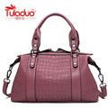 High Quality Women Handbags PU Leather Soft Ladies Casual Tote Messanger Bags Female Fashion Crocodile Pattern Crossbody Bag Sac