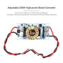 250W High-power Boost Converter Module 8.5~48V to 10~50V Step-up Module Mobile Power Supply LED Driver Module Max 10A(China)