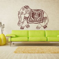 2017 Special Offer Europe Festival Hot Sale Walking Elephant Indian Wall Sticker Bedroon Dinning Room Decor Art Home Decoration