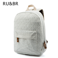 New Arrive Women Lace Backpacks School Bags Travel Bags Students Canvas Backpack Women Shoulder Bags Campus