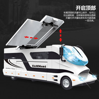 Simulation Fashion Alloy Room with Sound and Light Staircase Children's Toy Car Model Return Force Can Open Door Gift for Boy