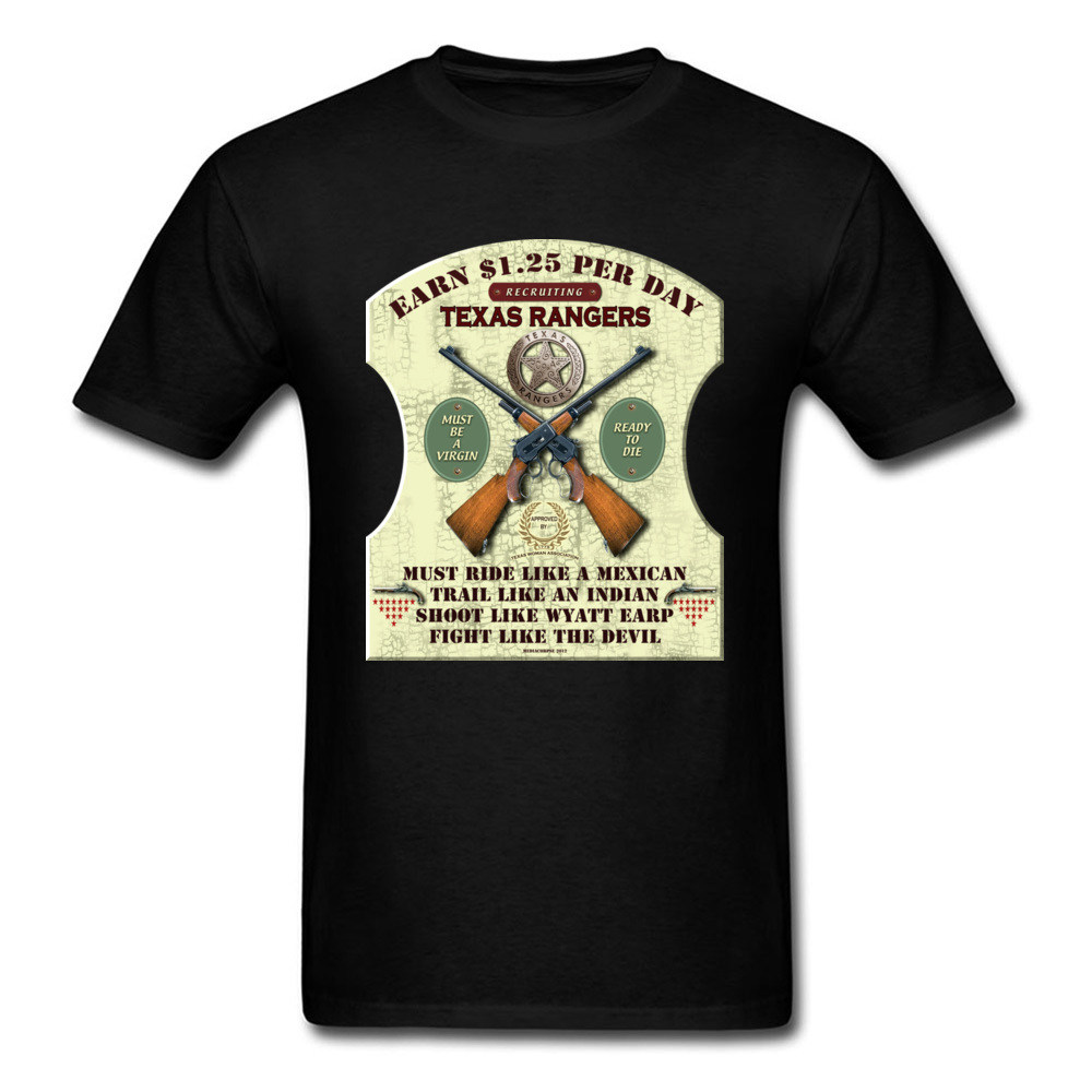 TEXAS RANGERS WANTED Top T-shirts 2018 Discount Men NEW YEAR DAY Tops T Shirt Customized Tee-Shirts Round Collar 100% Cotton