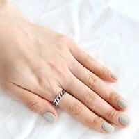 Xiagao catena dell'argento sterlina 925 anello aperto per le donne vintage retro style prevenire l'allergia gioelleria raffinata e alla moda cnr004
