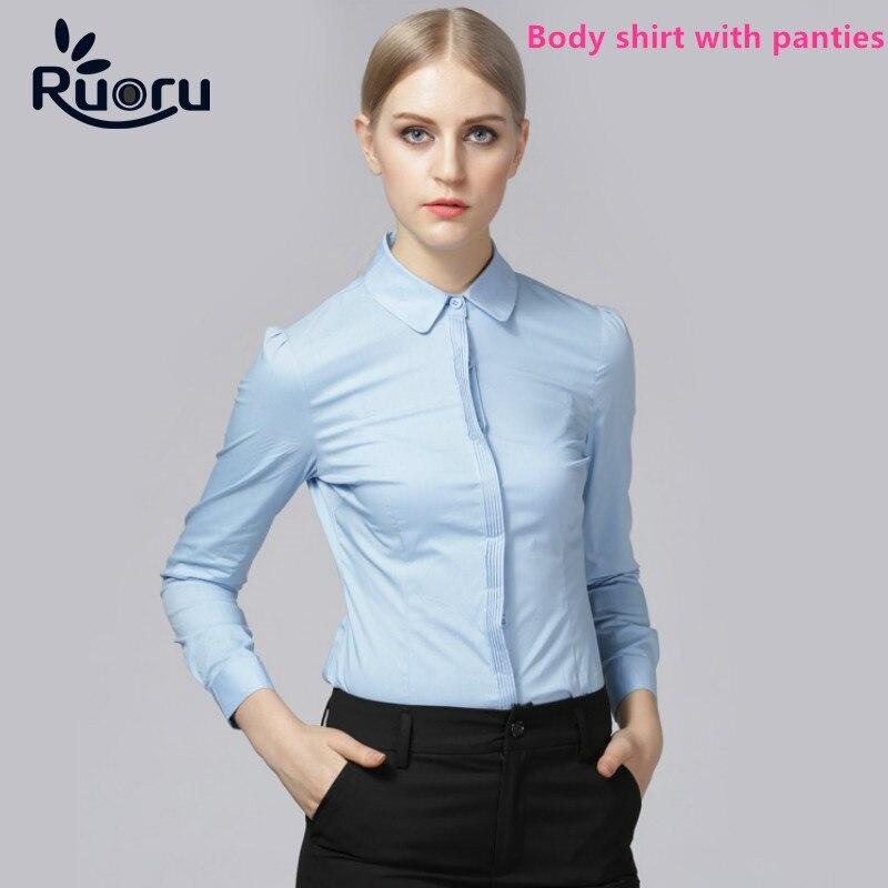 Ruoru Women Formal Clothes White Shirt Work Tops Plus Size Office Body  Shirt Long Sleeve Bodysuit - Popular Plus Size Bodysuit Blouse-Buy Cheap Plus Size Bodysuit
