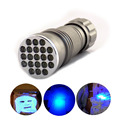 21 led UV Ultra Violet Flashlight Protable flash Torch Light Lamp mini portable ultraviolet linternas penlight linternas