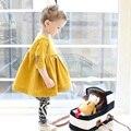 Vestido Del Tutú de princesa para Niñas Ropa de Bebé 2016 Flor de La Muchacha Del Niño Vestido de Manga Larga Niños Ropa Infantil Del Bebé Del Vestido de Invierno