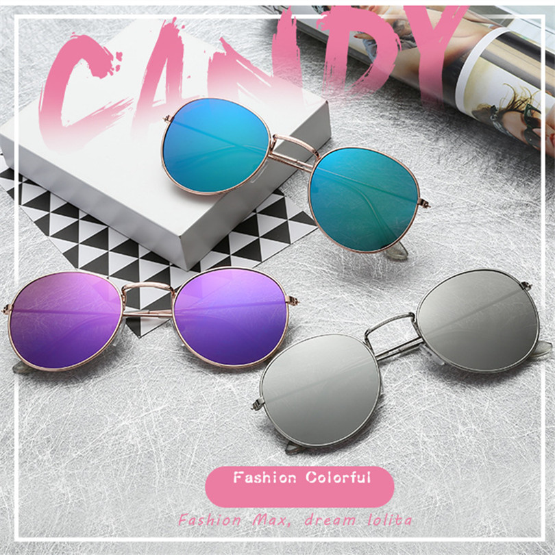Mirror Round Sunglasses Men Women 11