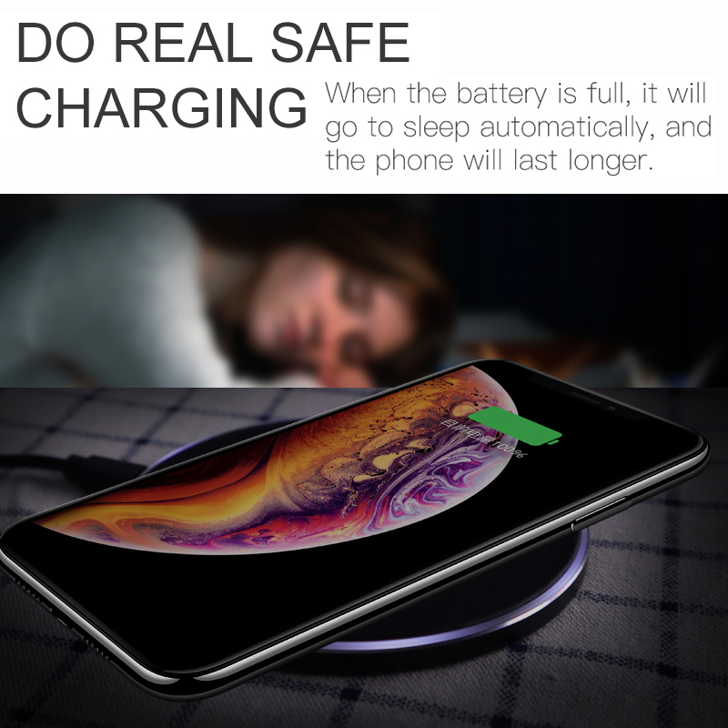 Suntaiho Qi Wireless Charger for Samsung Galaxy S10+ S10 plus Xiaomi mi 9 10W USB Fast Wireless Charging for iPhone X XS XR LG