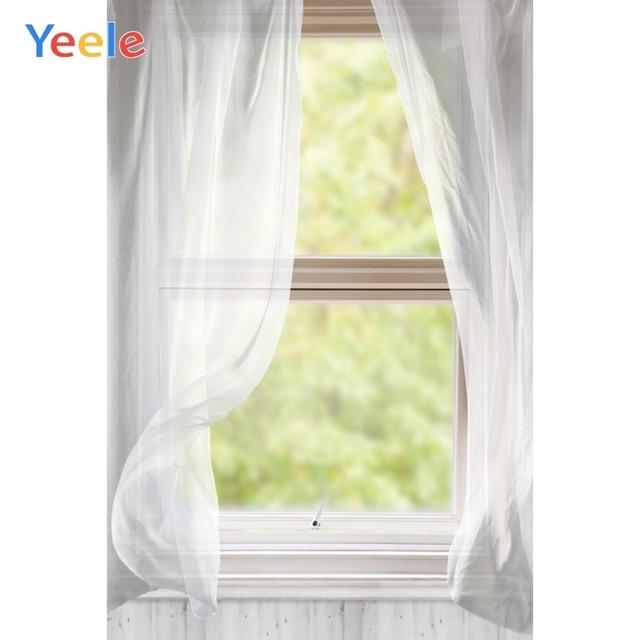Yeele Window White Curtain Frame Wood Interior Scene Photography Backgrounds Customized Photographic Backdrops for Photo Studio