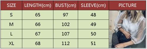 シースルー女性ブラウストップシャツ透明レースパフスリーブトップス女性の夏のカジュアルブラウス女性カバーアップ