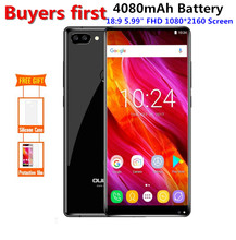 "Oukitel MIX 2 18:9 5.99 ""FHD Android 7.0 HelioP25 Octa base Smartphone 6 GB RAM 64 GB ROM 21.0MP + 2MP OTG 4G LTE FOTA Mobile Téléphone"