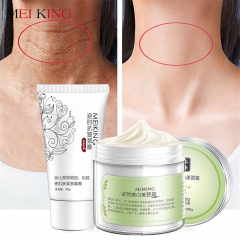 100g+80g Six Peptides Neck Cream Anti Wrinkle Remove Neck Mask Whitening Firming for Neck Masks Skin Care Delicate and Slippery Pakistan
