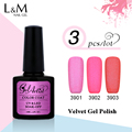 3Pcs Brand Gelartist Velvet Matte Gel Nail Polish Shining Colorful Soak Off Led/Uv Diy Nail Art Salon