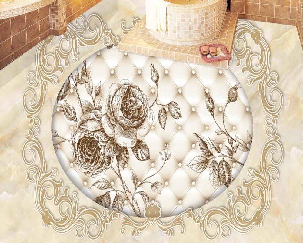 Badezimmer Tapete Und Fliesen