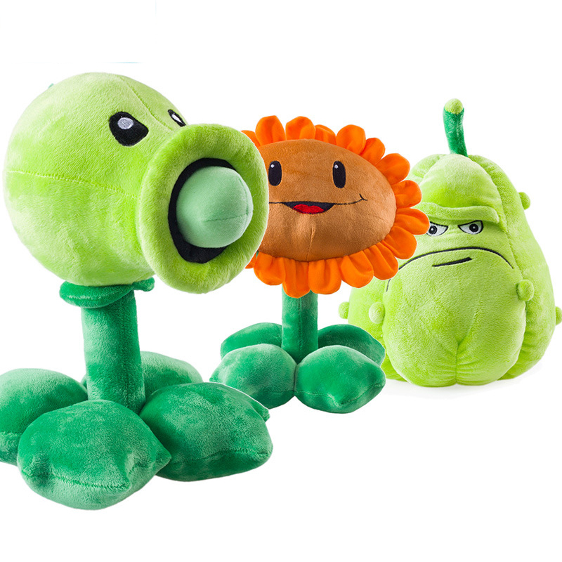 3pcs/lot Plants vs Zombies Pea Shooter Sunflower Squash Stuffed Plush Toys Games PVZ Soft Plush Toy Doll for Kids Children Gifts